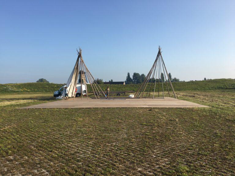 Opbouw tipi tenten