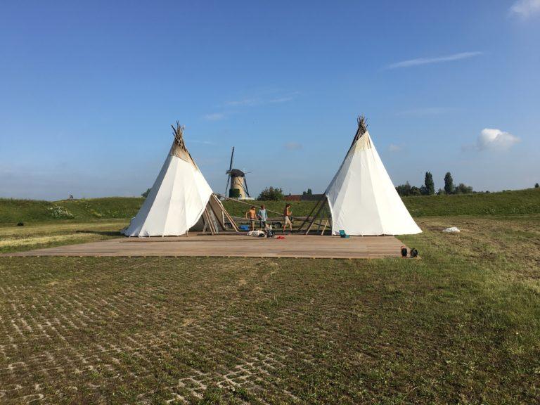 Opbouw tenten