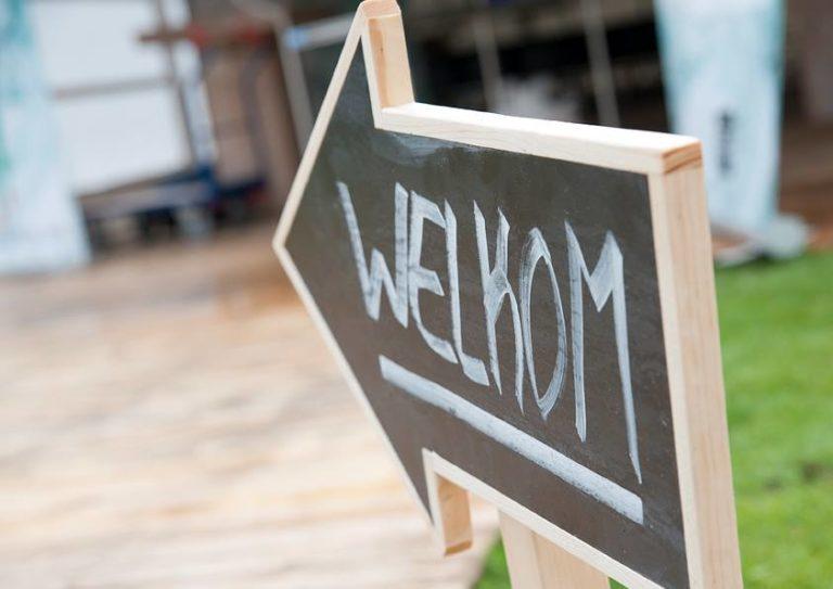 Welkom sign