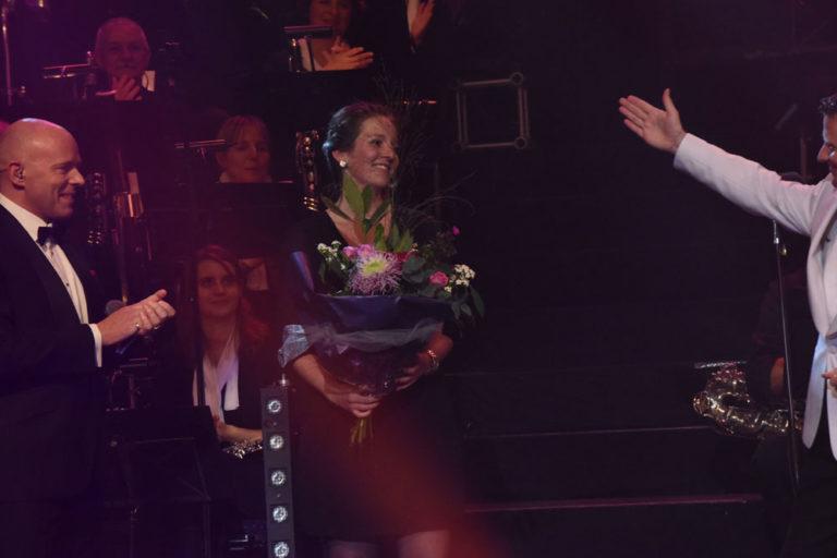 Marsha Damen op het podium