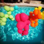Ballonnenhondjes in het zwembad